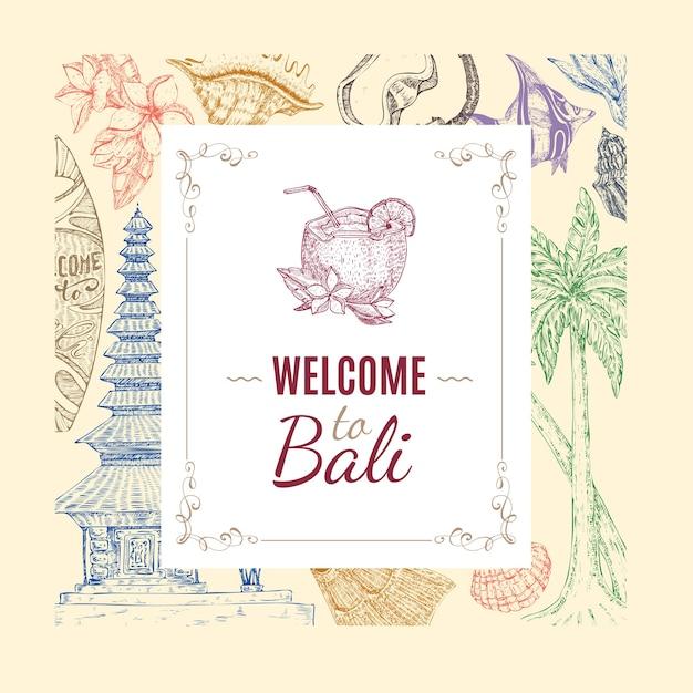 Ручной обращается балийский фон
