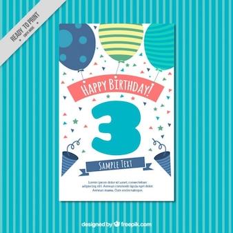 Рука обращается шары открытка на день рождения