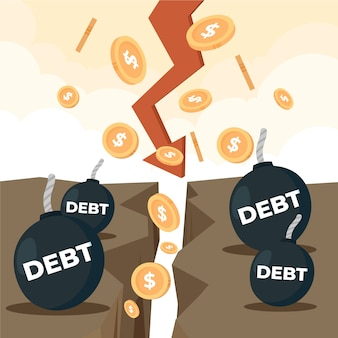 Hand drawn bankruptcy concept