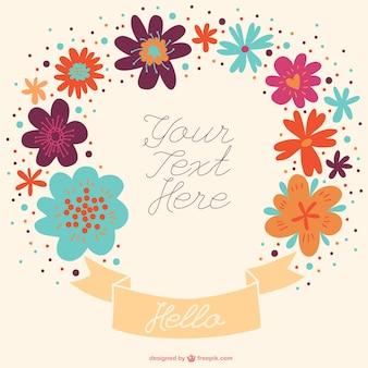 Hand-drawn banner announcement floral design