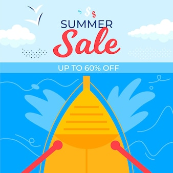 Hand drawn banner summer sale