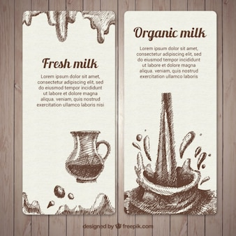 Ручной тяге баннеры всплеск молока