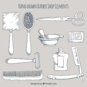 Рисованной коллекция парикмахера element