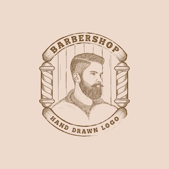 Hand drawn barbershop logo