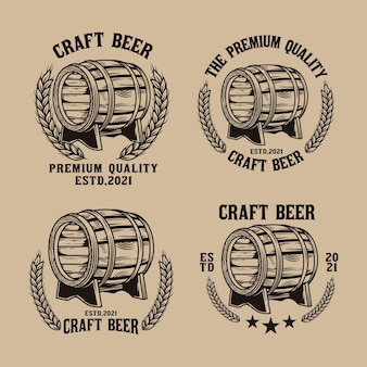 Hand drawn barrel logo pack illustration
