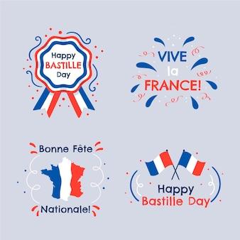 手描きのパリ祭のバッジコレクション