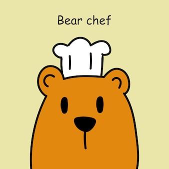 손으로 그린 곰 요리 만화