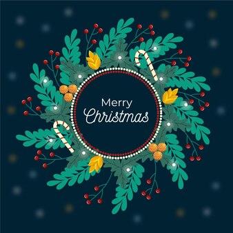 Ручной обращается красивый рождественский венок
