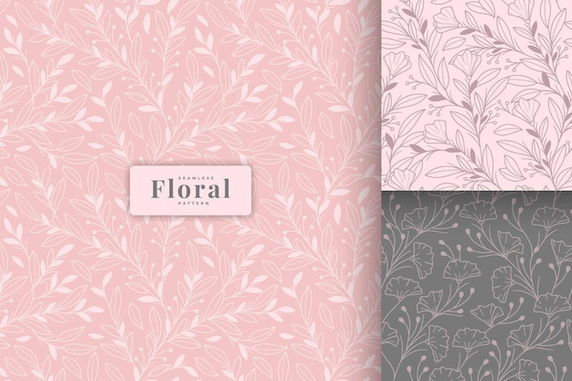 手描きの美しいパステルカラーの花柄コレクション