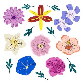 Ручной обращается красивый весенний цветочный набор