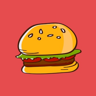 手描きのビーフバーガー