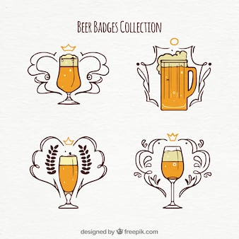 Hand drawn beer badges