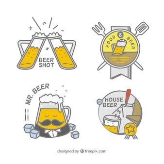 Collezione di birra disegnata a mano