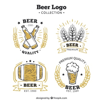 Hand drawn beer collection