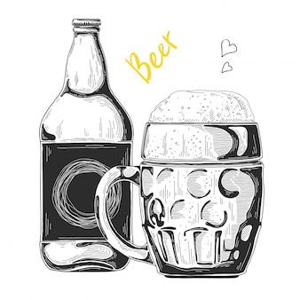 Hand drawn beer sketch
