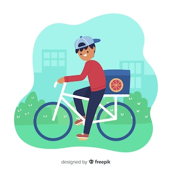 Hand drawn bicycle delivery concept