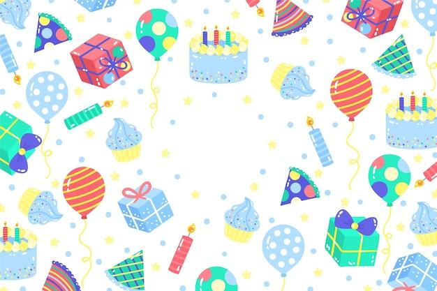 手描きの誕生日の背景