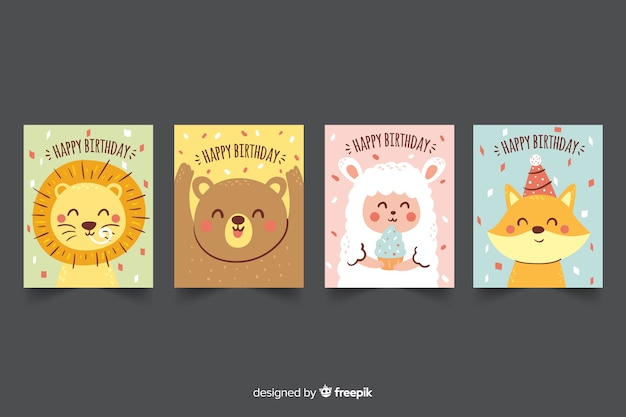 Hand drawn birthday card collection