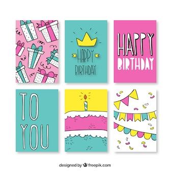 Disegnati a mano le carte di compleanno