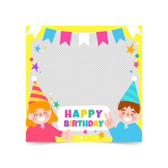 Hand drawn birthday facebook frame