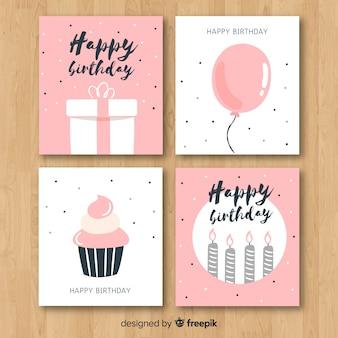 Hand drawn birthday invitation card collection