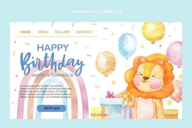 Pagina di destinazione di compleanno disegnata a mano