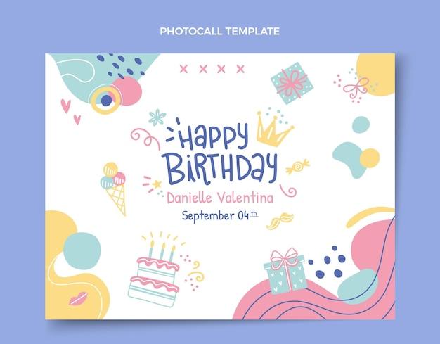 Modello di photocall di compleanno disegnato a mano