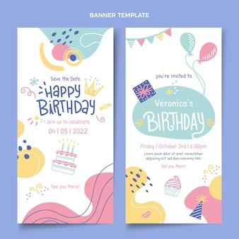 Ручной обращается день рождения вертикальные баннеры