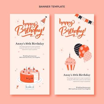 Hand drawn birthday vertical banners
