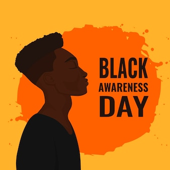 Hand drawn black awareness day