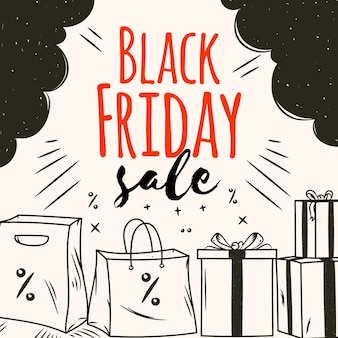 Hand drawn black friday