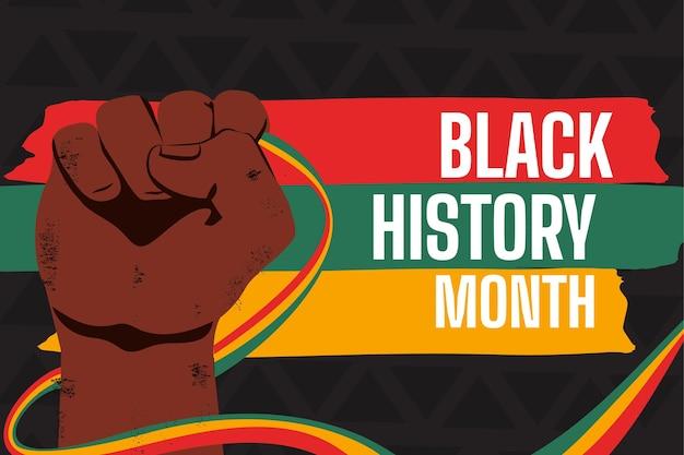 Hand drawn black history month background