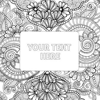 Disegnati a mano in bianco e nero per adulti da colorare