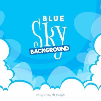 Hand drawn blue sky background