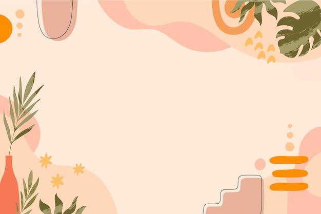 Hand drawn boho background