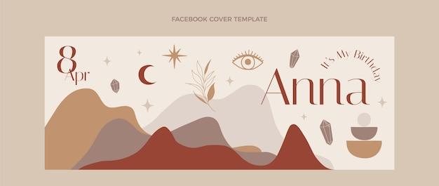 Copertina facebook di compleanno boho disegnata a mano