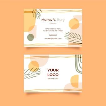 Шаблон визитной карточки в стиле бохо