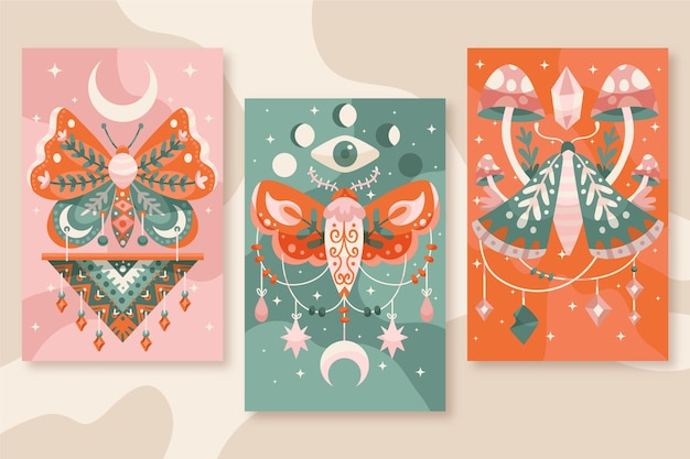 Hand drawn boho covers collection