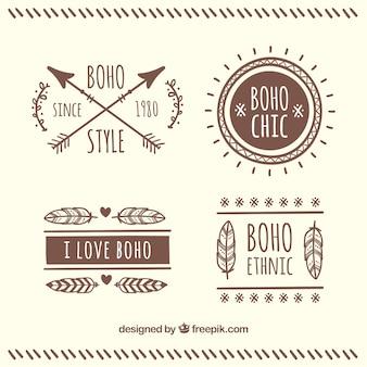 Ручной обращается boho декоративные наклейки
