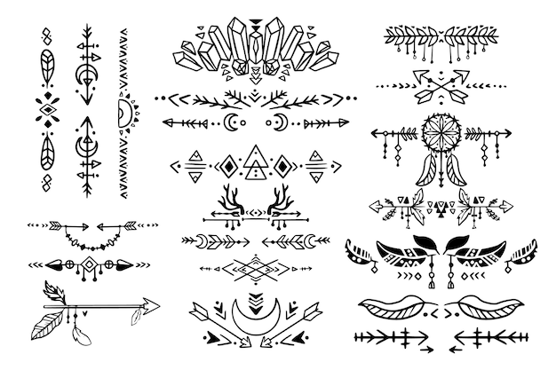 Hand drawn boho dividers