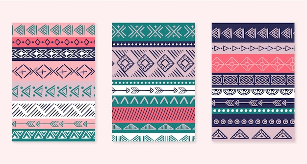 Hand drawn boho style covers