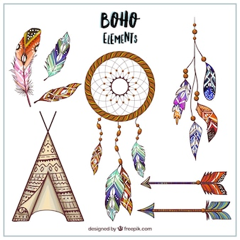 Hand drawn boho style designs