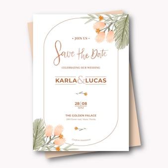 手描きの自由奔放に生きる結婚式の招待状