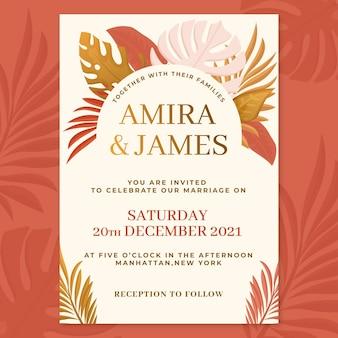 Приглашение на свадьбу в стиле бохо