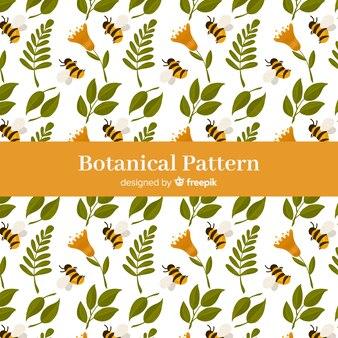 Hand drawn botanical background