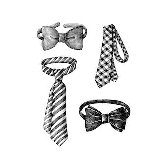 Hand drawn bow tie accessory