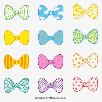 Hand drawn bow ties