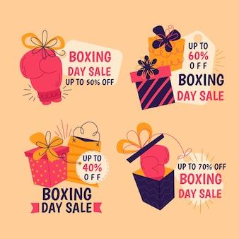 Balle di vendita di boxe day disegnati a mano