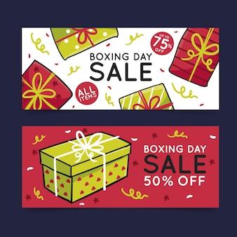 Нарисованный рукой шаблон распродажи дня бокса