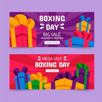 Banner di vendita di boxe day disegnati a mano